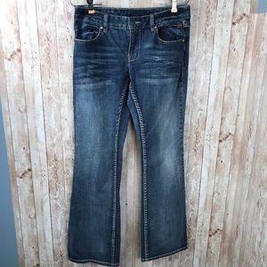 Harley Davidson sz 4 bootcut jeans wings crystals
